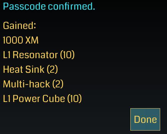ingress_passcode5